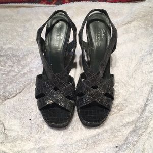 Vintage Alligator Donald J Pliner wedges